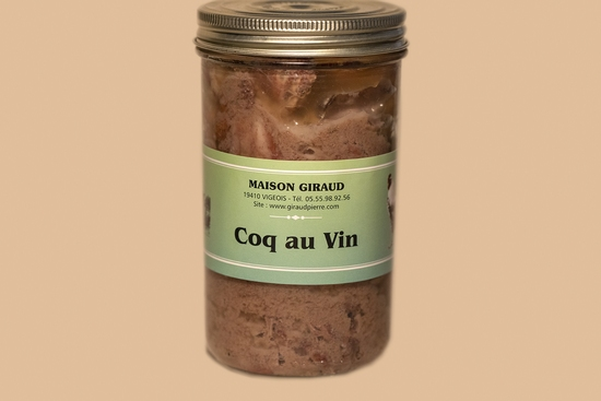 Coq au vin (Bocal 600g)