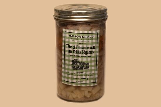 Tête et Fraise de veau aux petits légumes (bocal 650g)