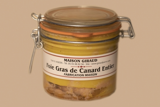 Foie gras de canard naturel (bocal 200g)