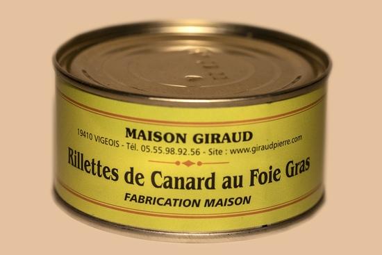 Rillettes de canard au foie gras (bte 190g)
