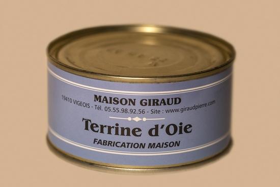 Terrine d'oie au foie gras (bte 130g)