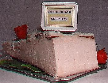Lard de porc Cul Noir ( le kg )