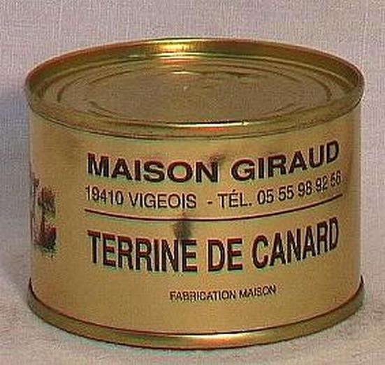 Terrine de canard au foie gras (bte 190g)