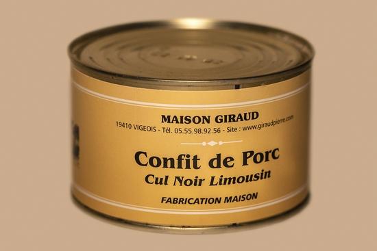 Confit de porc Cul Noir ( bte 400g )
