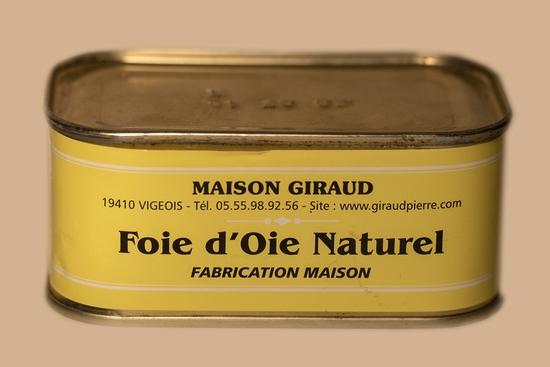 Foie gras d'oie au naturel ( bte 190g )