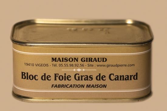 Bloc de foie gras de canard ( bte 190g )