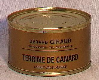 Terrine de canard au foie gras ( bte 190g )