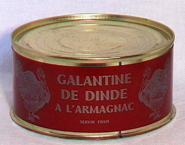 Galantine de dinde à l'Armagnac ( bte 270g )