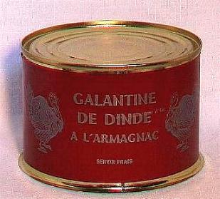 Galantine de dinde à l'Armagnac ( bte 400g )